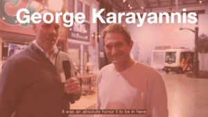 George Karayannis with Dave Cooper