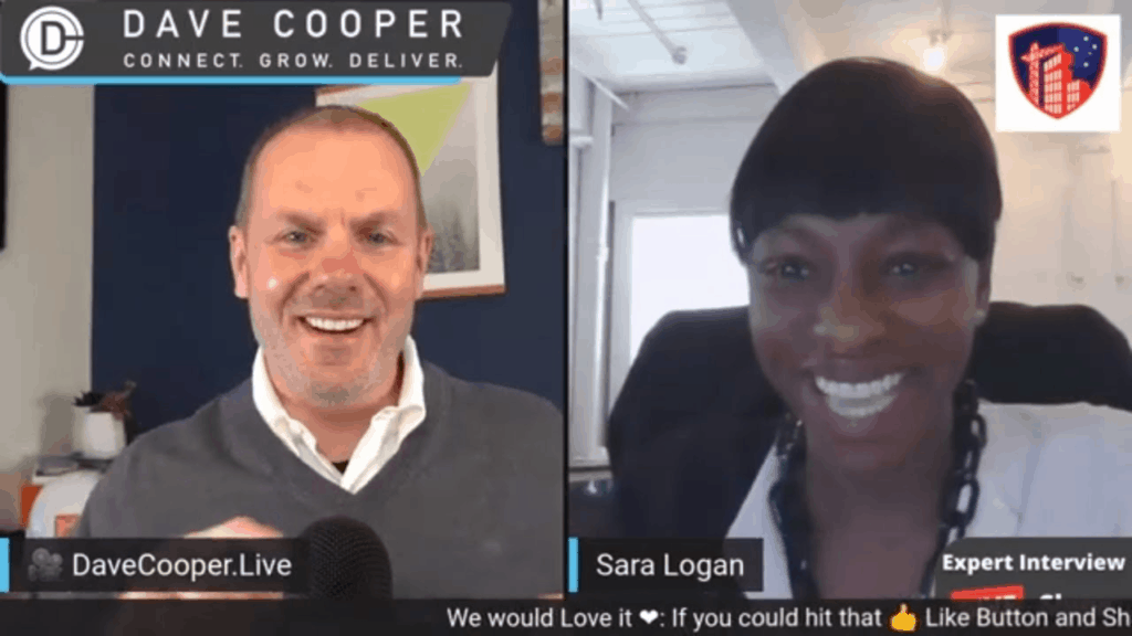 Sara Logan with Dave Cooper